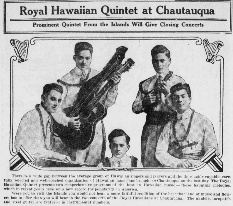 The Royal Hawaiian Quintet Performing on the U.S. Mainland