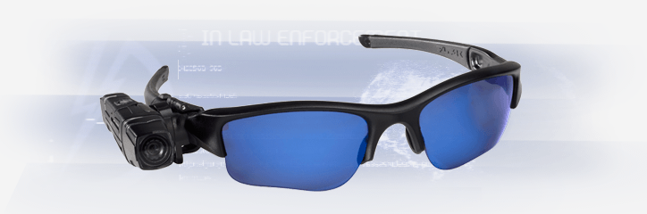 The small video camera is made to attach to sunglasses.
