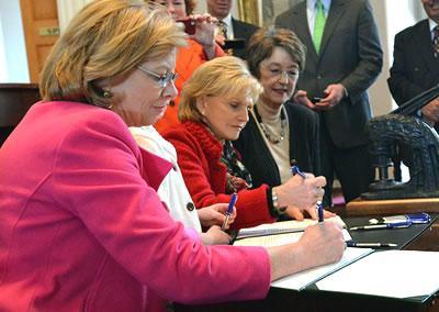 Raleigh mayor Nancy McFarlane and Fmr. Gov. Bev Perdue