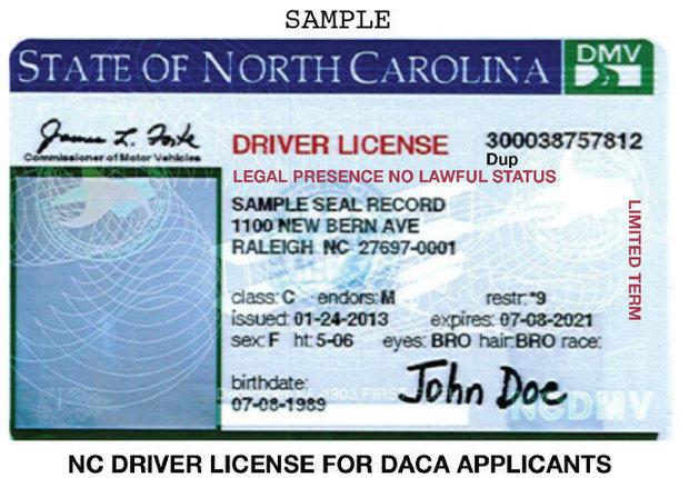 New DACA driver's license