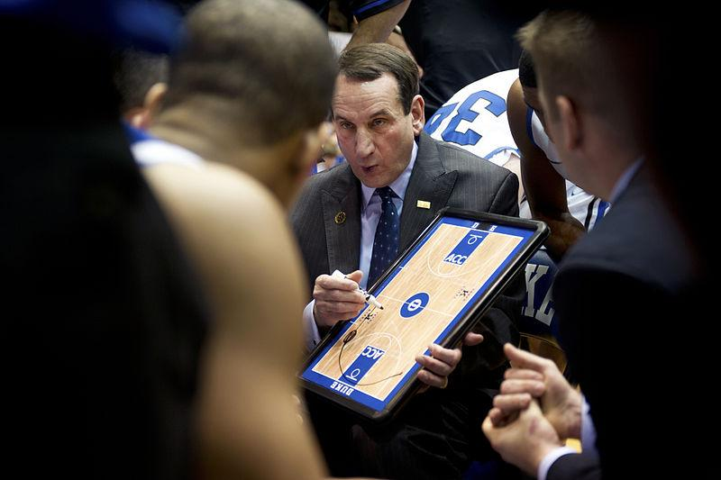 Duke men's basketball head coach Mike Krzyzewski