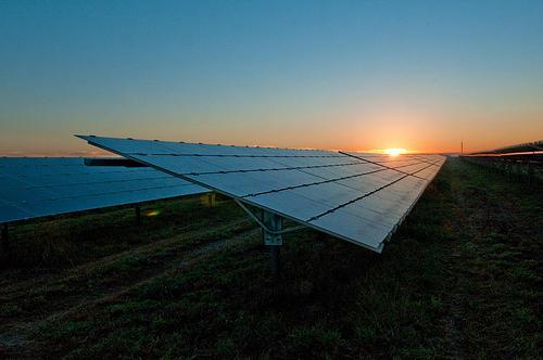 One of Progress Energy's solar energy farms.