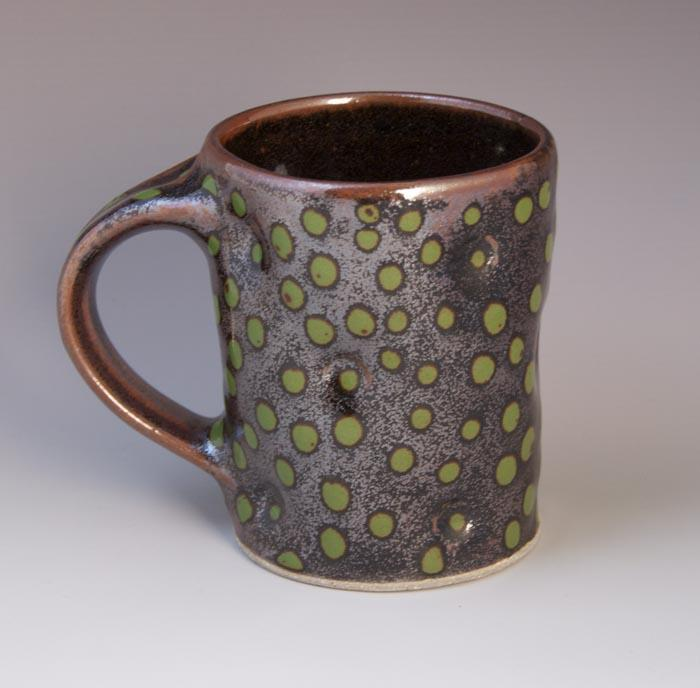 A sample mug from Dean & Martin Pottery, Seagrove, NC
