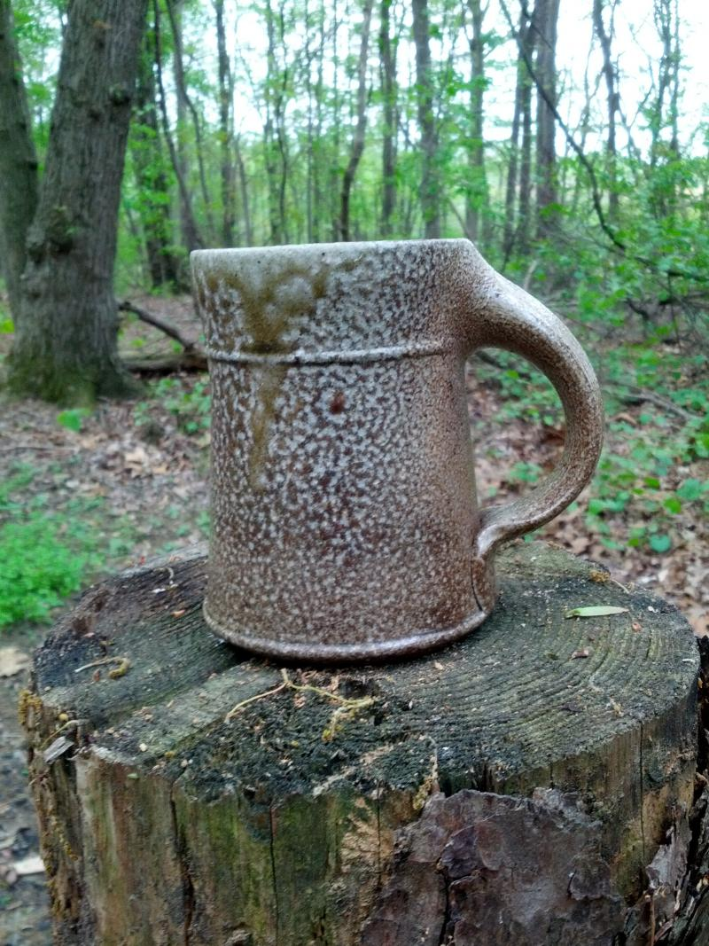 A sample mug from Chad Brown Pottery.