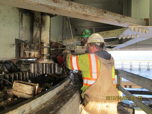 Alligator River bridge repairs