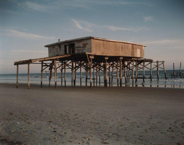Abandoned Pier Building North of Surf City