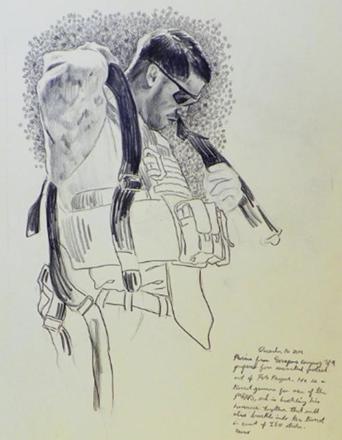 Sketch of soldier