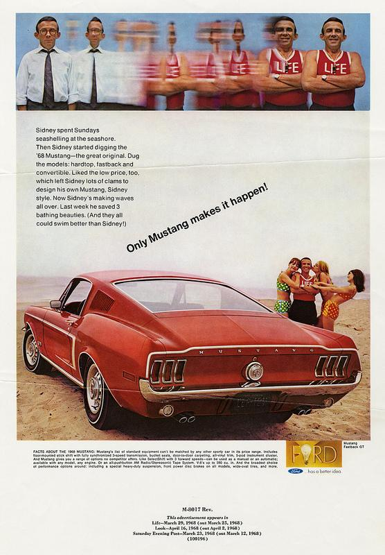 This Mustang ad appeared in Life, Look, and the Saturday Evening Post in 1968.