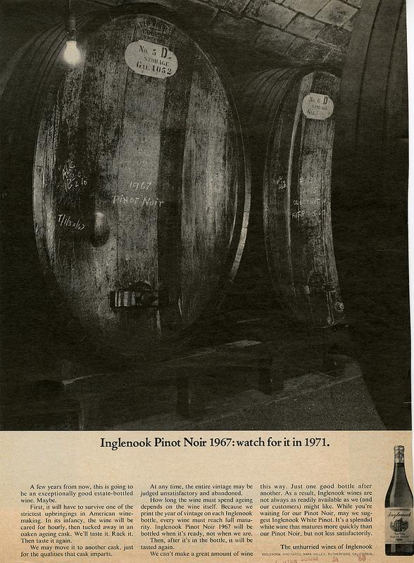 Last night's episode referenced Pinot Noir. This 1968 ad would've been seen by Mad Men characters in that year.
