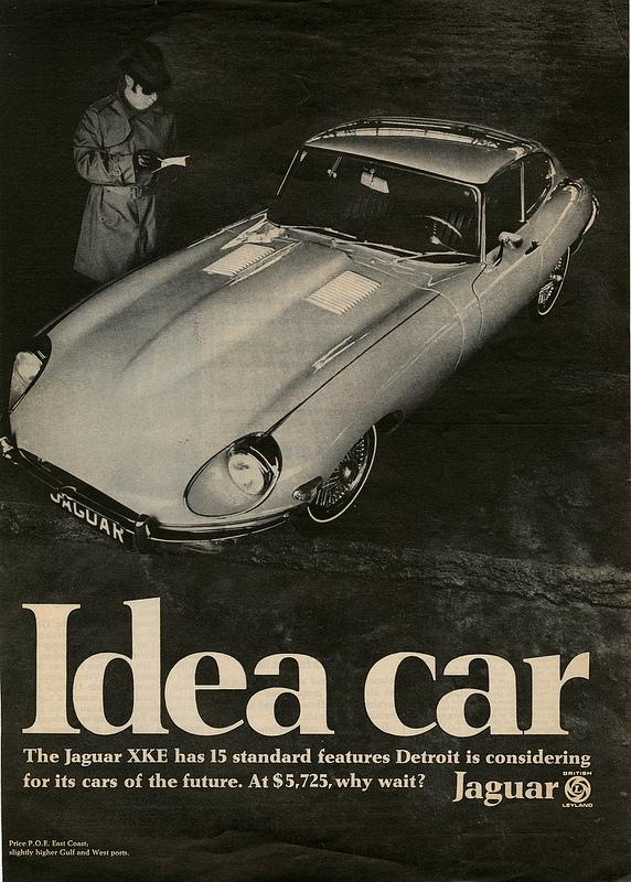 Ad for Jaguar, a company which Don Draper helped win over in the show.
