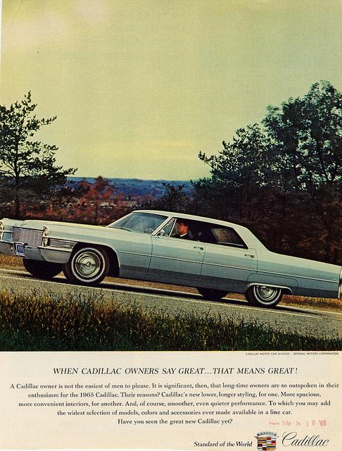 A 1965 Cadallic ad.