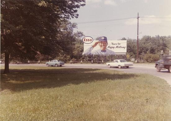 An Esso billboard from the late 1960's.