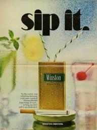 A Winston Menthol ad from 1968.