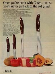 A Cutco knives ad from 1968.