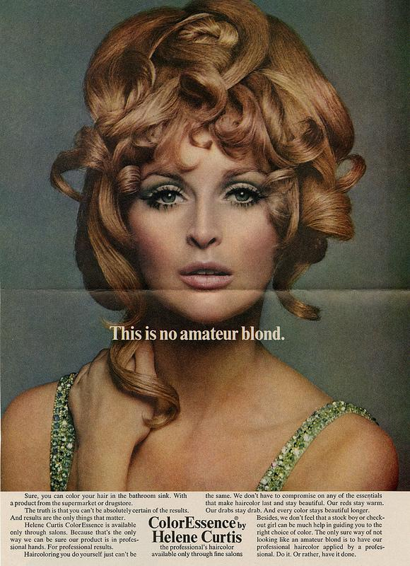 A hair color ad from ColorEssence.