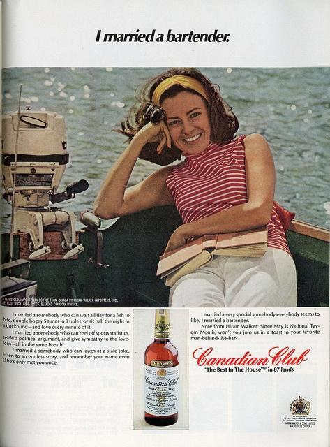 A Canadian Club ad from 1968.