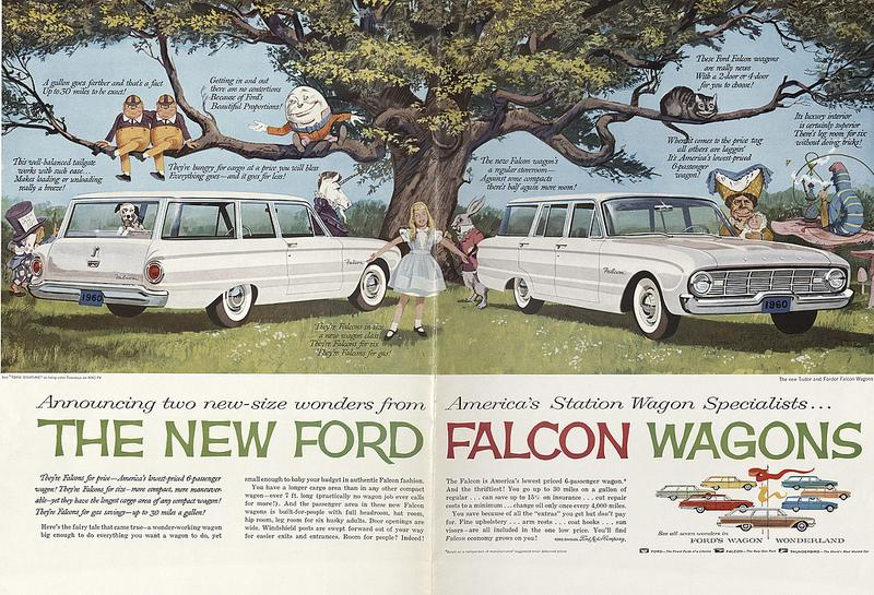 A 1960 advertisement for a Ford Falcon Wagon