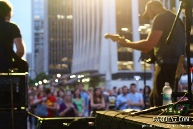 A performer at last year's Oak City 7 concert series in Raleigh.