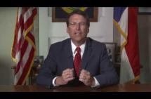McCrory gives weekly GOP address