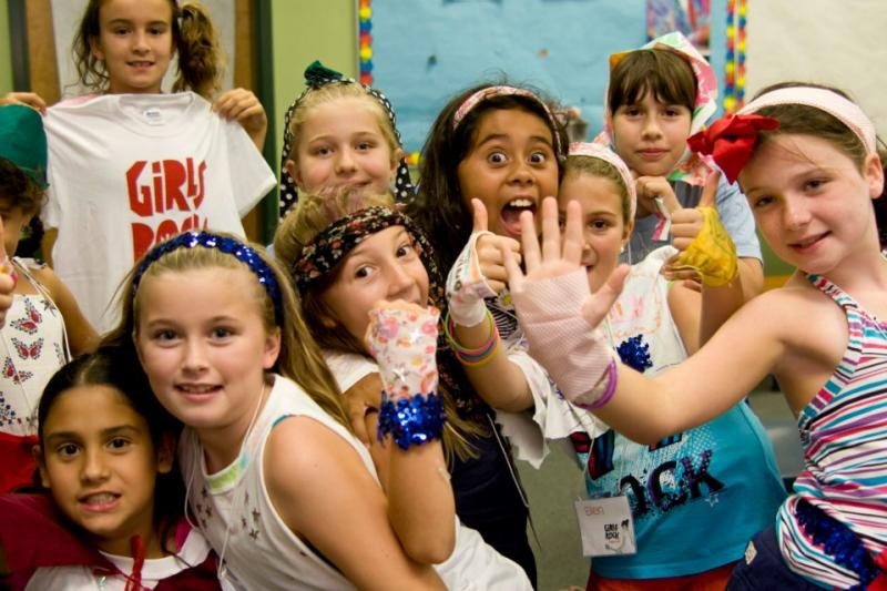 Campers attend workshops such as DIY crafts at Girls Rock NC.