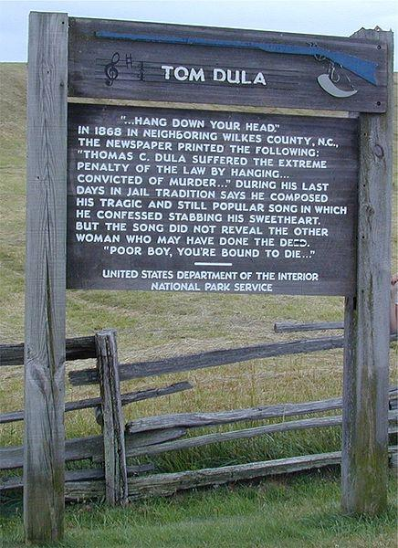 Tom Dooley sign, Blue Ridge Parkway