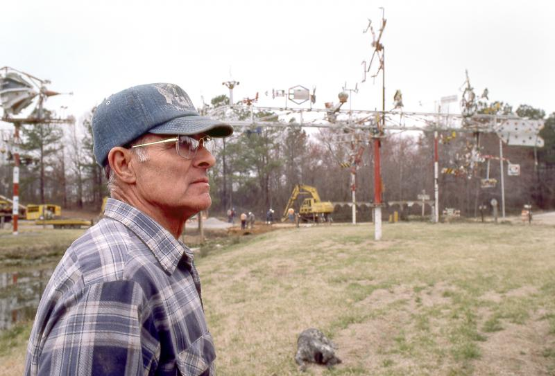 Vollis Simpson on his farm in Lucama, NC circa 1986.