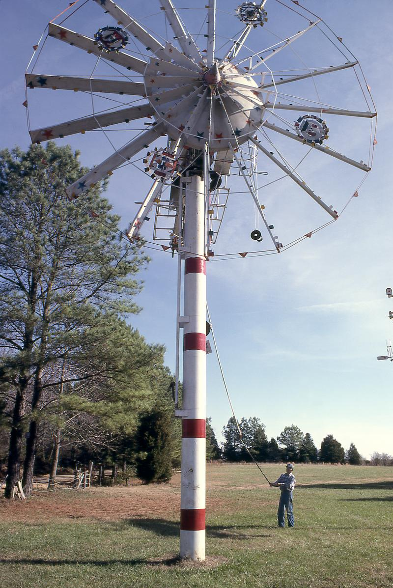 Vollis Simpson's windmills could be as high as six stories tall.