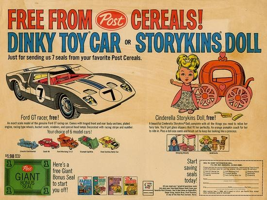 A 1968 message from Post cereals.