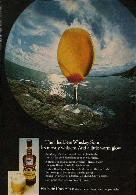 An ad for Heublein Whiskey Sour from 1968.