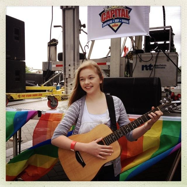 Thirteen-year-old singer-songwriter Emma Livingston has attended Girls Rock NC for three years and counting.