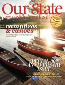 Cover of the 80th Anniversary Issue of Our State Magazine