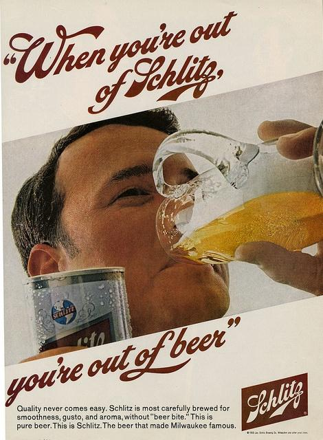 A Schlitz ad from 1968.