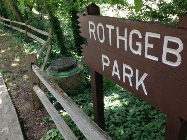 Manhole in Rothgeb Park