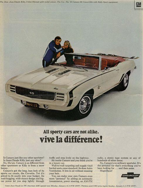 Chevy Camaro ad from the Hartman Center's archives.