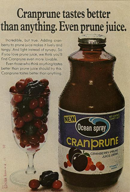 An Ocean Spray ad. In the episode 12, the company is a client of SC & P.
