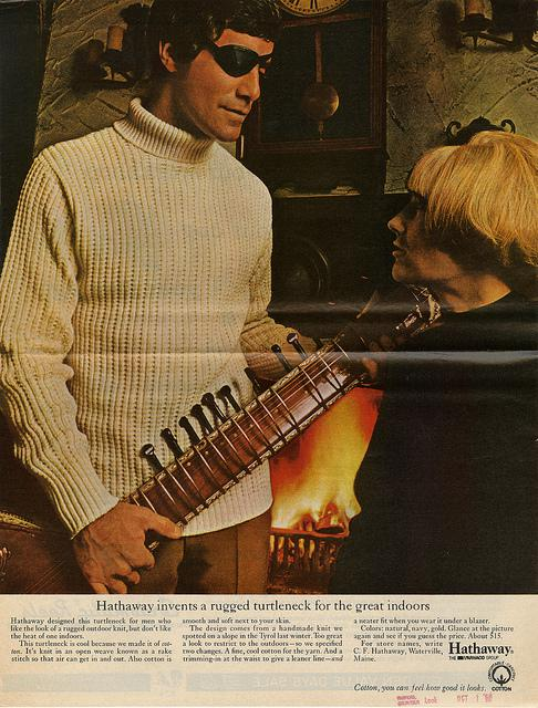 A turtleneck ad from 1968.