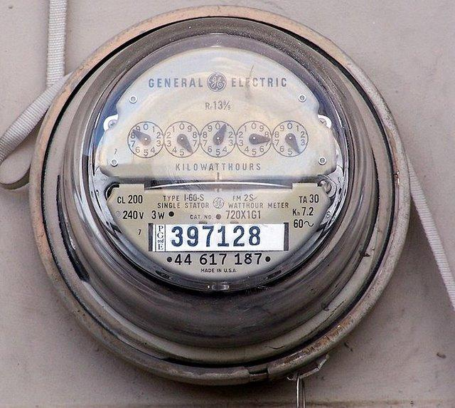 Electric power meter, energy