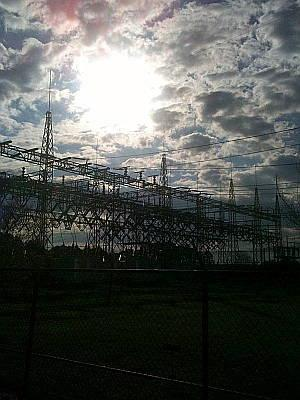 Skies over Cape Fear Plant, Moncure