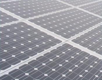 A solar panel, renewable energy