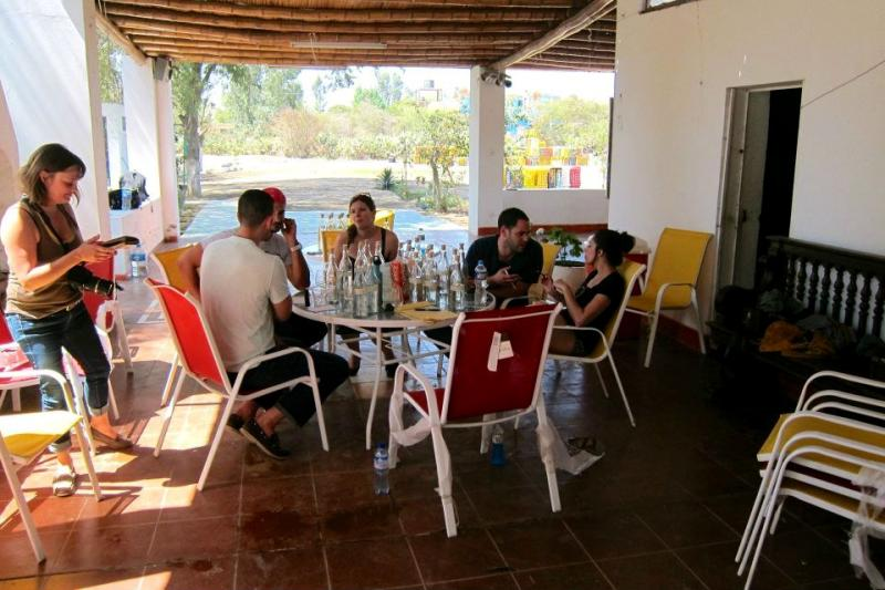 The group tasted pisco every day during their stay.
