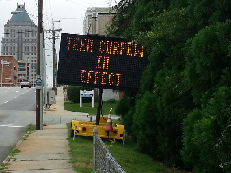 Greensboro established a summer curfew for its youth.