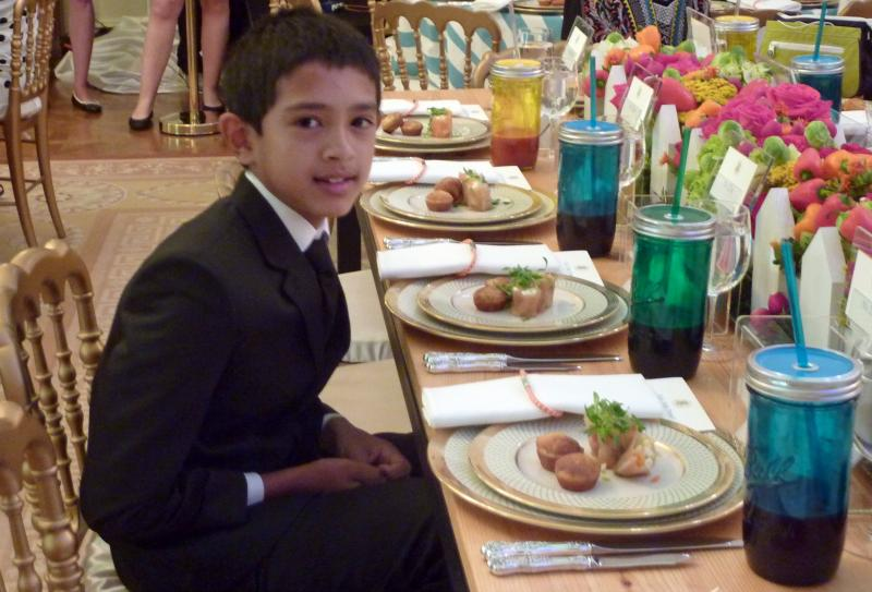 Vijay Dey at the White House Kids' State Dinner on July 9.