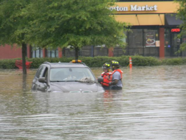 Flooding in Chapel Hill on Sunday