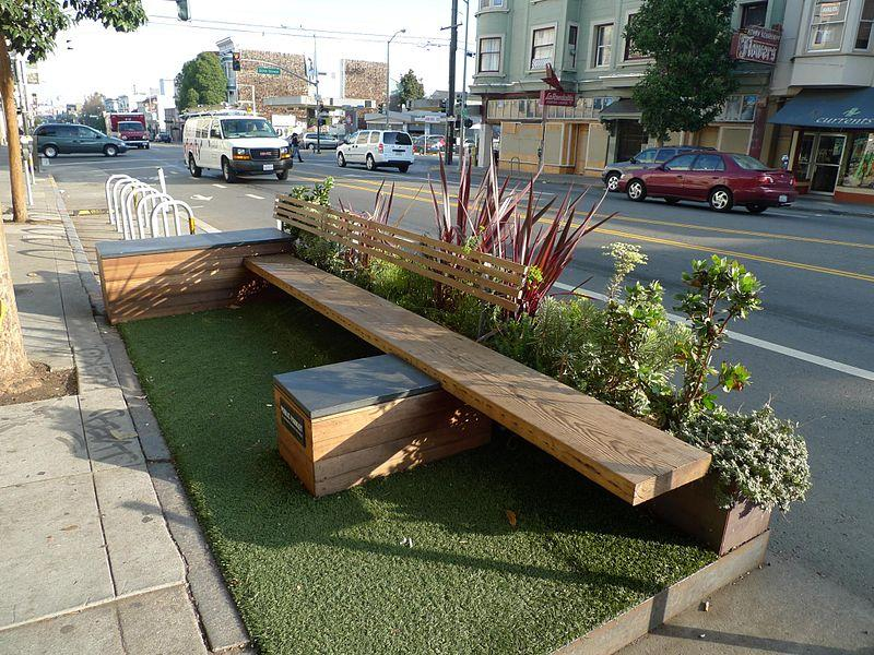 A parklet in San Francisco.