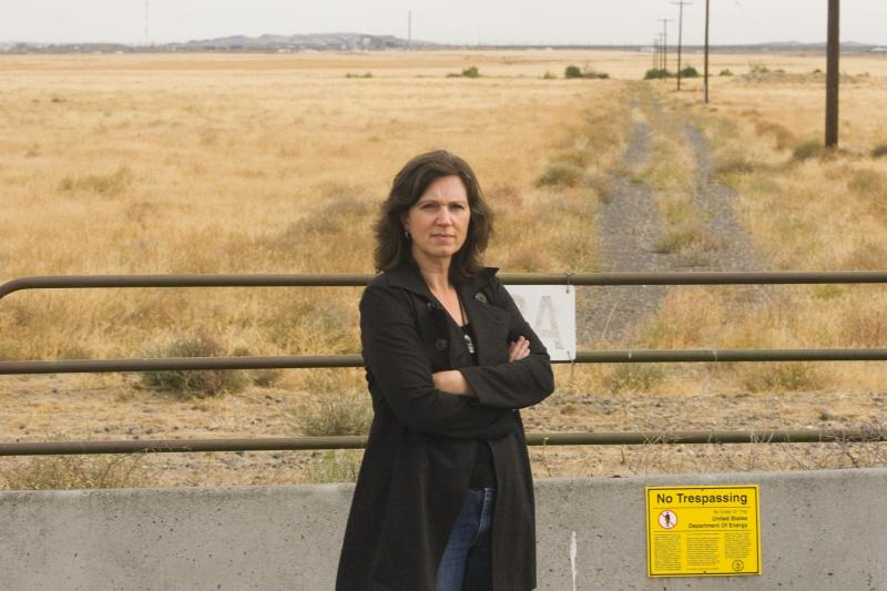 Photo: Kathleen Flenniken at the Hanford Nuclear Reservation