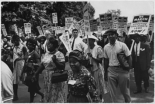 Photograph of the Civil Rights March on Washington, 08/28/1963