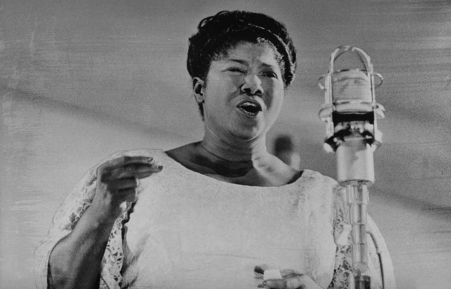 Mahalia Jackson, acclaimed gospel singer who performed at the March on Washington