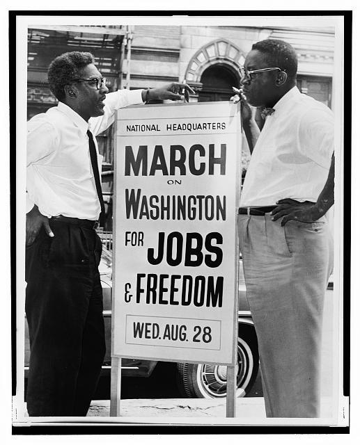 Bayard Rustin and Clevelend Robinson on August 7th, 1963