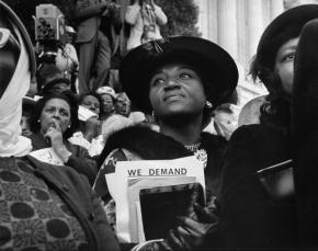 Photo: A woman at the March on Washington