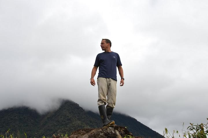 Wake Forest biologist Miles Silman in the cloud forest.